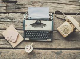 read typewriter coffee
