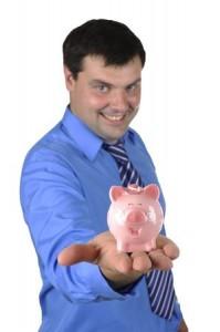 banker piggy bank save spend