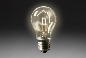 light bulb idea leader think smart clever property house