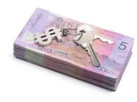 notes australian dollar money keys tenant deposit buy cost house property