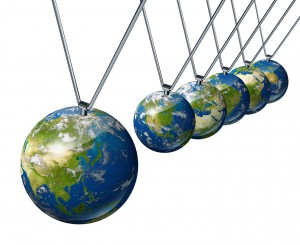 pendulum market economy world china europe globe trade stock share