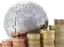 world globe puzzle coins economy