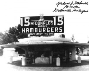 22. The first McDonalds