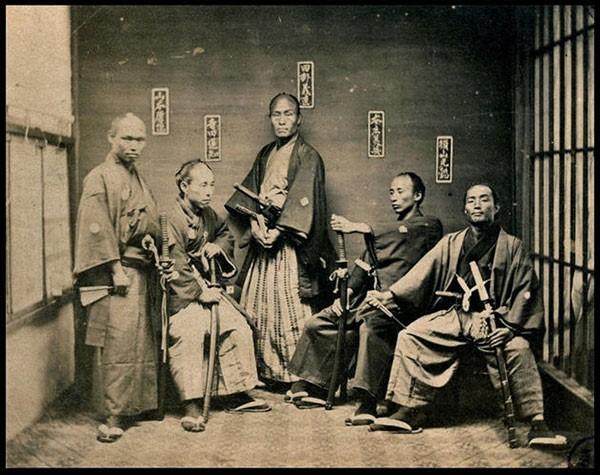 3 - Samurai warriors taken between 1860 and 1880