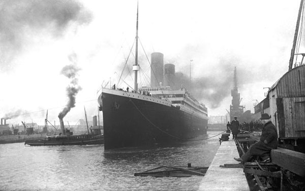 42. Titanic leaves port in 1912