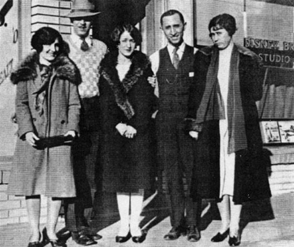 5. Walt Disney on the day they opened Disney Studios