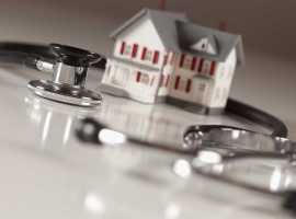 doctor health stethoscope house property market evaluate problem check