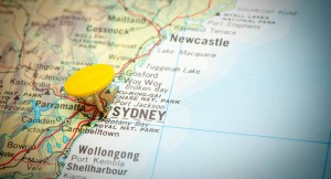 map sydney location new south wales australia state