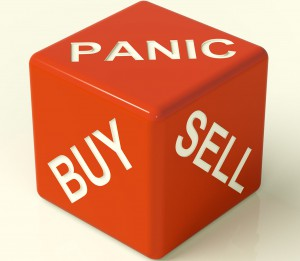 panic buy or sell share stock gamble risk market price consumer
