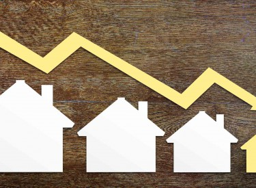 price drop money property market crash house low arrow down