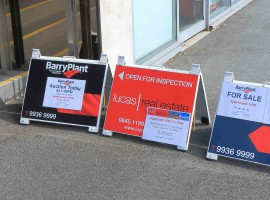 melbourne property market sale sell board