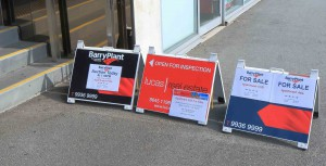 melbourne property market sale sell board
