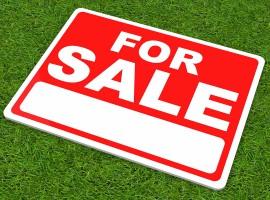 sale sign auction house property market