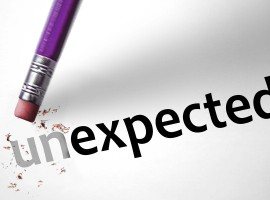 Eraser changing the word unexpected for expected