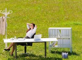 relax stress work office nature fresh outdoor weekend job employment woman happy