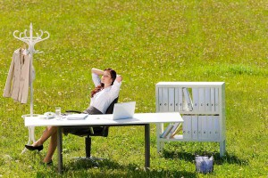 relax stress work office nature fresh outdoor weekend job employment woman happy