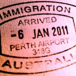 immigration arrival stamp australia
