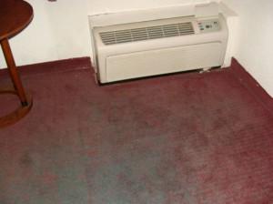 worn carpet