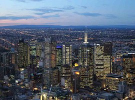The population density of Melbourne