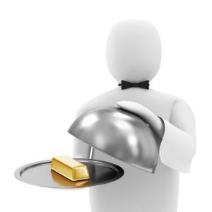 rich butler millionaire gold money