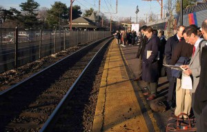 commuter train city work