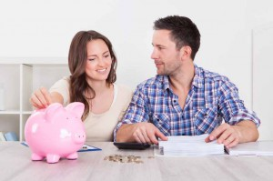 bank-savings-house-couple-save-property-meeting-budget