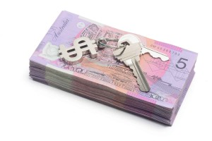 notes australian dollar money keys tenant deposit buy cost house property
