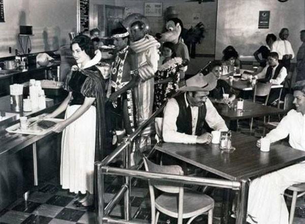 21. Disneyland employee cafeteria in 1961