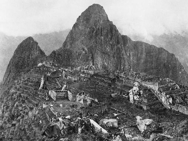 29. The first photo following the discovery of Machu Pichu in 1912