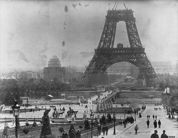 40. Construction of the Eiffel Tower in 1888
