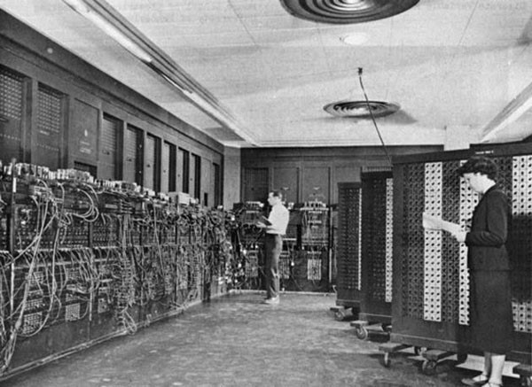44. ENIAC, the first computer ever built