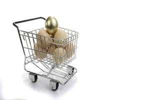 basket shopping egg portfolio diversify basket buy retire income money saving super