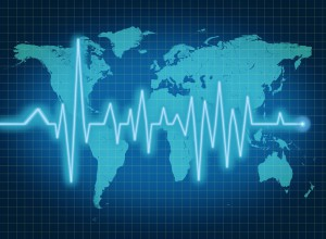globe economy growth health world heart decline map