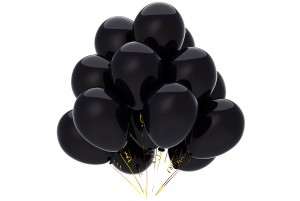 negative be postive depressed mood sad black balloon mourn funeral dead