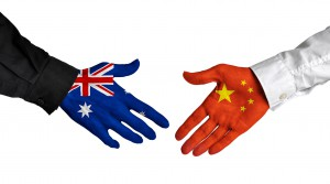 hand shake china australia government diplomacy negotiation deal agree country policy