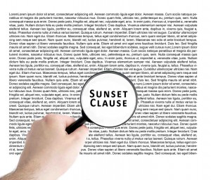legal sunset clause contract off the plan writing
