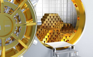 rich money wealthy million billion gold dollar bank vault save deposit buy invest