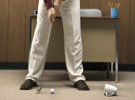 golf putt office procrastinate