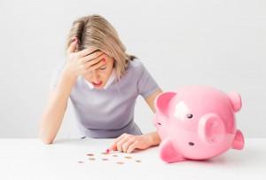 37177045 - woman having financial problems