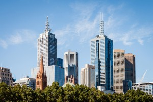 Melbourne Downtown Cbd Skyline, Australia
