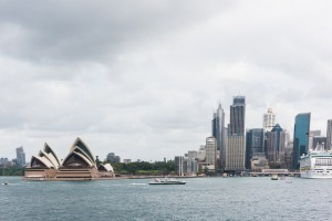 Sydney Opera House & City Skyline In Sydney Harbour