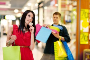 Woman Spending Too Much Money For Shop