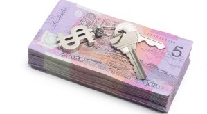 Notes Australian Dollar Money Keys Tenant Deposit Buy Cost House Property 300x200