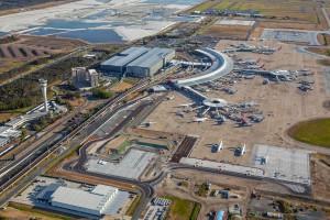 Aerial Brisbane Airport