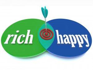 Rich Happy Venn Diagram Success Goal Of Wealth