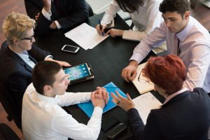 Business People Group On Meeting At Modern Bright Office