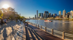 Brisbane, Australia Aug 12 2018: Panoramic View Of Brisbane From