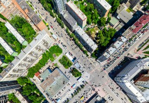 Photo From Above A City For Urban Planning Event